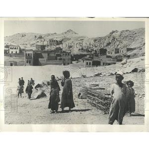1930 Press Photo Mud Houses In Egypt Village - RRY35107
