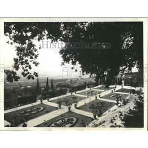 1934 Press Photo Pope Pius Summer Vatican Italy