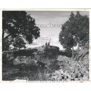 1955 Press Photo Fary Luis de lived cave Peco Mexico
