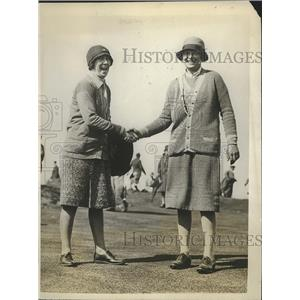 1928 Press Photo Miss S Marshall, Miss Manette le Blan English Women's Open