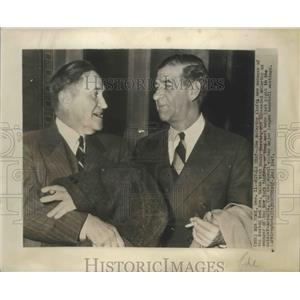 1947 Press Photo Joe McCarthy Manager of Boston Red Sox with Bucky Harris