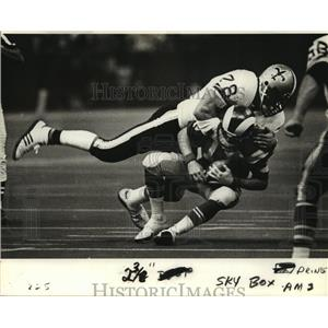 1981 Press Photo New Orleans Saints- Action shots of Saints vs Rams. - nos00344