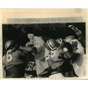 1981 Press Photo New Orleans Saints- Saints have gone to brief contact drills.