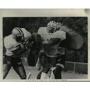 1981 Press Photo New Orleans Saints-  Saints practice drills. - nos00353