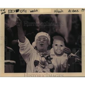 1965 Press Photo New Orleans Saints- Saints fans. - nos00683