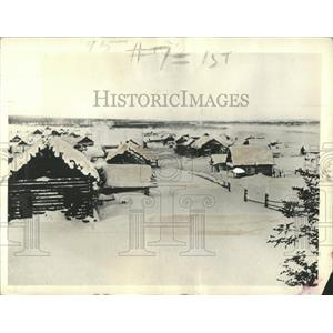 1933 Press Photo Markovo Siberia Anadir Region Village