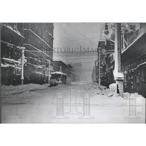 1913 Press Photo Snow Denver Streets Historic Road