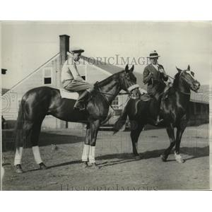1930 Press Photo Kentucky Derby hopeful High Foot and trainer J. B. Partridge