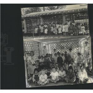 1918 Press Photo Shelter house Nursery Children Pretty