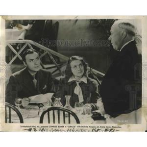 "1939 Press Photo Actors Charles Boyer, Michele Morgan in ""Orage"" Movie"