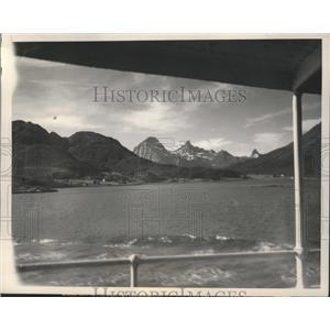 1940 Press Photo Lofoten Islands West Fjord, Norway Where British Landed