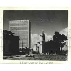 1943 Press Photo Olinda, Brazil Concrete Water Cooling Tower - ftx02144