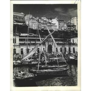1943 Press Photo Port of Salvador da Baia, Brazil - ftx02756