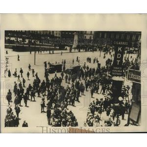 1926 Press Photo View of Demonstration Staged by Confederation Regional Cheros