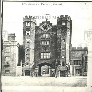 1912 Press Photo St. James's Palace, London