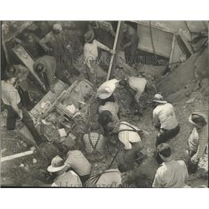1958 Press Photo Deadly Building Collapse at 2105 Morris Ave in Birmingham, Ala.