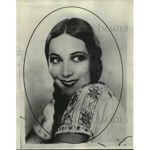 1930 Press Photo Dolores Del Rio - mjx27859