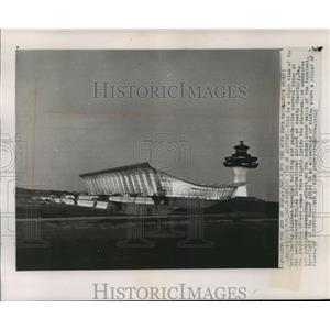 1962 Press Photo Terminal Building, Dulles International Airport - mja55812