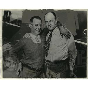 """1929 Press Photo Byron K. Newcomb, R.L. Mitchell, Pilots of """"City of Cleveland"""""""