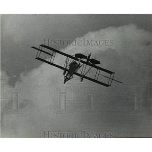 1967 Press Photo 1912 Curtiss pusher over General Mitchell field at air show