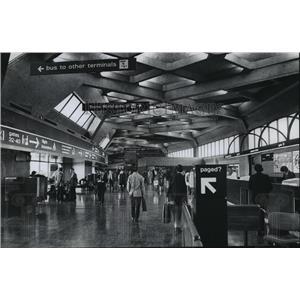 1976 Press Photo Kansas City International Airport interior view,, Missouri