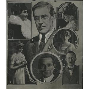 1917 Press Photo President Wilson family member event