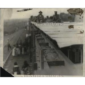 1924 Press Photo Box Car built to make portable Fort Mexican Army - neo04125