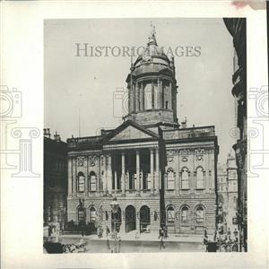 1913 Press Photo Mayor Gaynor Body Town Hall Liverpool