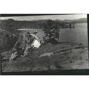 1917 Press Photo Cheeseman Dam