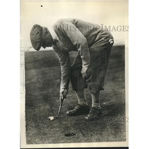 1930 Press Photo Joshua Crane of U.S. team practicing for British Open