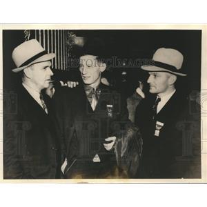 1937 Press Photo MLB moguls Babe Ganzel, Lon Warneke, Riggs Stephenson