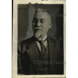 1919 Press Photo Baron Goto Japanese statesman on tour across America