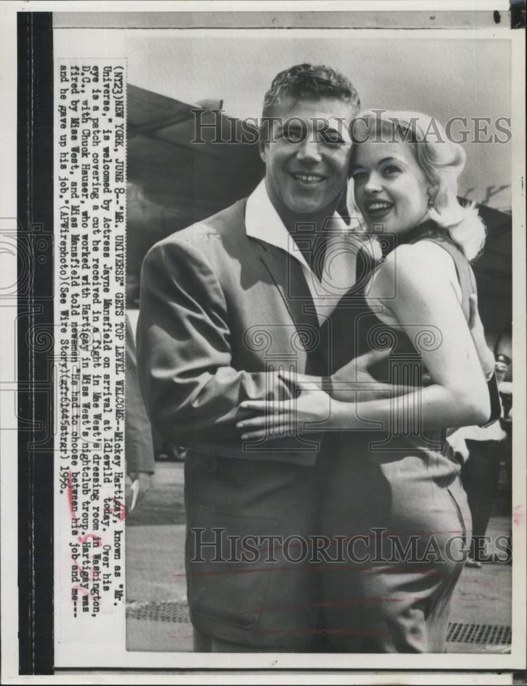 1956 Press Photo Mickey Hargitay Mr. Universe & Actress ...