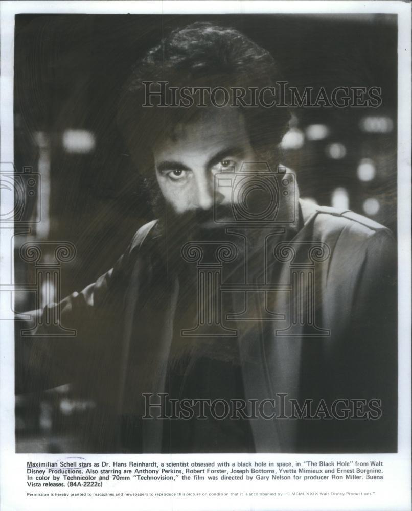 1979 Press Photo Maximilian Schell Swiss Actor The Black ...