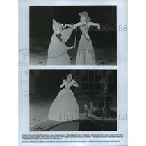 1949 Press Photo Scenes from Walt Disney's animated feature, Cinderella.