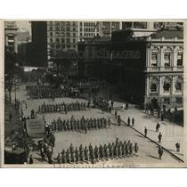 1918 Press Photo New York Funeral parade for Major John P Mitchell NYC