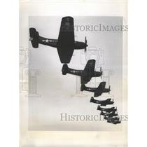 1948 Press Photo Navy's Powerful Dive Bomber, Martin AM-1 Maulers in Formation