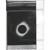 1940 Press Photo 59 second total eclipse as photographed from Cadillac Mountain