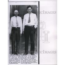 1963 Wire Photo Col. Charles A. Lindbergh with Dr. Robert Goddard in N.M.