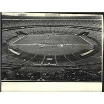 1974 Press Photo Atlanta Stadium - Empty Stands at Falcon-Packer Game