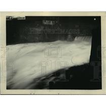 1927 Press Photo Spokane Falls illuminated at night  - spx19105