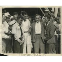 1931 Press Photo Pilots taken in Cleveland after last lap around the world