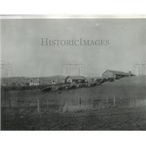 1890 Press Photo Hauling wheat to warehouse, Garfield Washington - spx19476