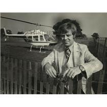 1979 Press Photo Jack Cunningham, Helicopter pilot. - mja89750