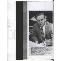 1962 Press Photo Richard McCann General Manager Washington Redskins Football
