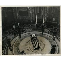 1931 Press Photo Maj Gen Clarence Edwards Funeral in Hall of Flags, Boston