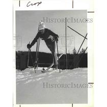 1987 Press Photo Skier Bob Peck at the 49 Degrees North skiing area - sps08011