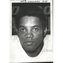 "1968 Press Photo Cincinnati Bengals football player, Harold ""Teddy"" Washington"