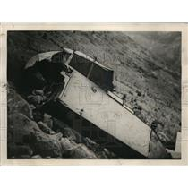 1932 Press Photo Fuselage of Albert Sauvant's Machine After 8 Meter Tumble