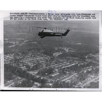 1959 Press Photo A Marine Corps helicopter in DC with Pres Eisenhower & Soviets